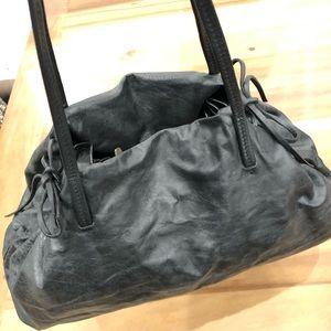 MIU MIU distressed black leather bag